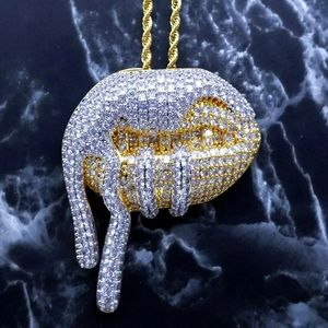 """14K Gold Finish Drooling Lip & 24"""" Rope Chain"""